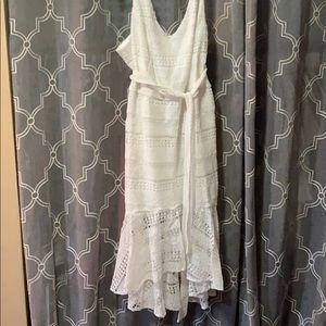White Lace Dress by City Chic Plus Size
